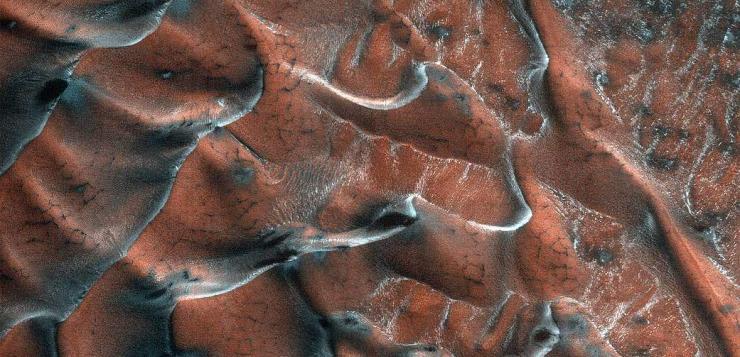 Les dunes gelées de Mars
