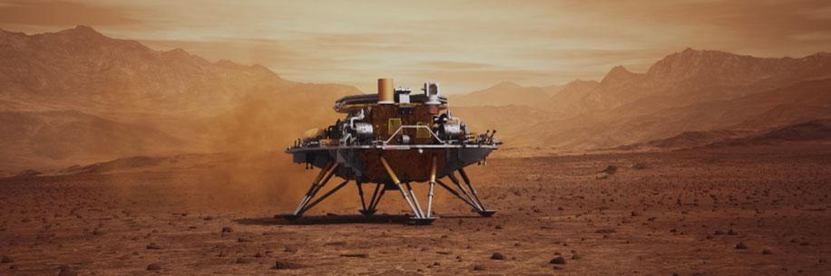 la Chine réussit du premier coup à poser un robot sur Mars