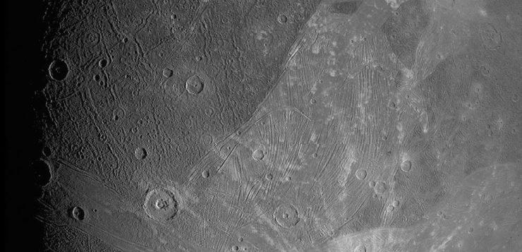 Les premières photos de Ganymède, le plus gros satellite de Jupiter
