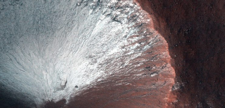 Frost on Crater Slope